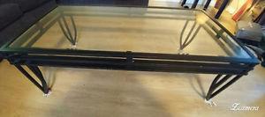 Black iron rod coffee table