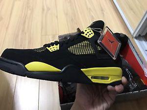 Brand new Air Jordan retro 4 Thunder size 10
