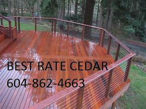 Cedar decking clear and stk siding clear and stk more mill