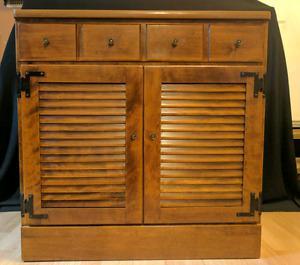 """Ethan Allen Heirloom Maple 30"""" shutter door cabinet"""