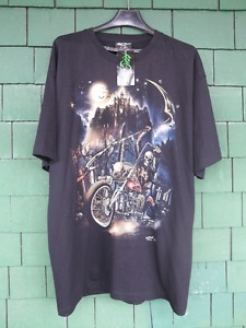 FOR SALE - GLOW IN DARK - BIKER T SHIRT - BY ROCK CHANG