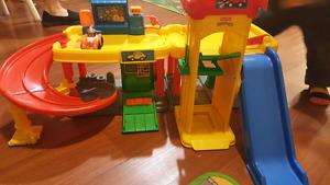 Fisher price little people garage comes with fisher price