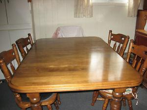 For sale dining room table and 4 chairs
