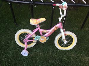 "Huffy Disney bike, 14"" wheels"