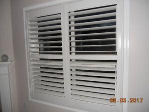 INDOOR VINYL SHUTTERS - WHITE