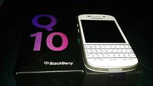 In mint condition unlocked Blackberry Q10 white or black,BB