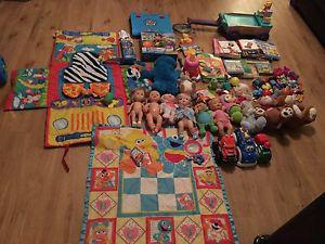 Infant-toddler toys/books lot