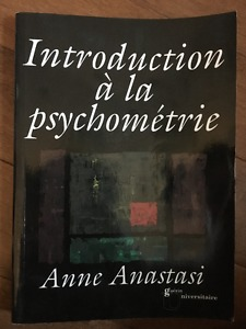 Introduction à la psychométrie (Anne Anastasi)