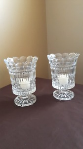 Lead crystal candle holders