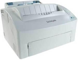 Lexmark laser printer with toner