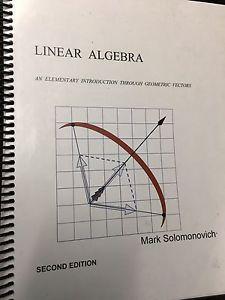 Linear algebra 2 edition