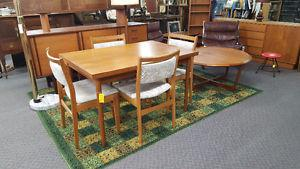 Mid Century Teak Table and Chairs