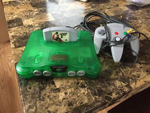 N64 Jungle Green w/ controller and game