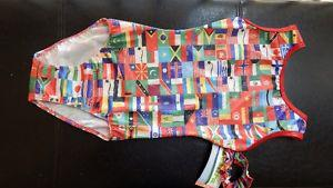 NWT Olympic flags gym suit