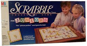 New/Sealed-Scrabble for Juniors. by Milton Bradley