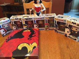 POP! HEROES // WONDER WOMAN CANVAS & COIN BANK