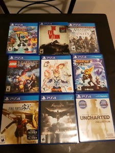 Ps4 games 15$ each or 3 for 40$