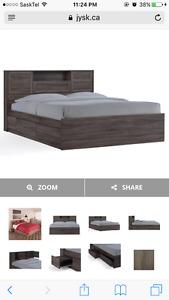 Queen Storage Bed & Mattress