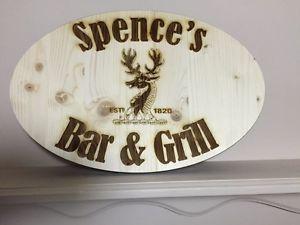 SAME DAY - custom engraved wood signs