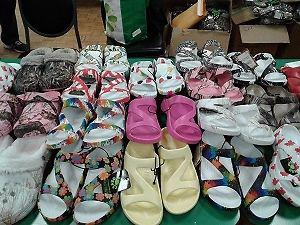 Shop for yourself Cool Mother Day sandals at this yard sale