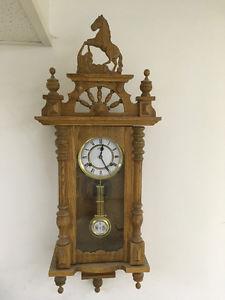 Solid oak wind up clock