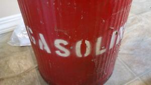 Vintage Gas Container Stands about 12 inches tall 8 inches