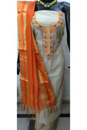 Buy Bulk Chanderi Zari Work Unstitched Suits FOR SALE