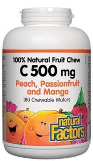 Natural Factors 100 Natural Fruit Chew C 500 mg SERVICES