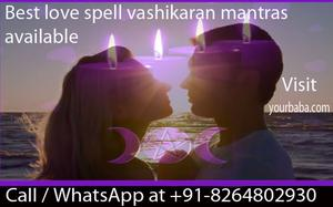 Vashikaran for love spell result 200 confirme 91  OFFERED