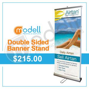 Double Sided Roll Up Banner Stand p Modell Printing and Displays OFFERED