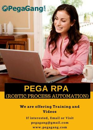 Pega RPA Online Training SERVICES