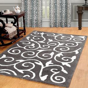 Get Online Soft Cozy Scroll Design Shag Rug FOR SALE