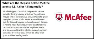 McAfee Support number canada SERVICES