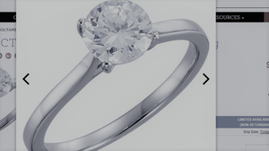 14K White 1 CTW Diamond Solitaire Engagement Ring FOR SALE