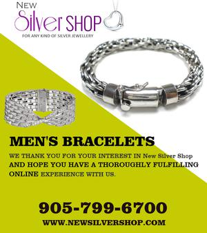 Latest Designer Mens Silver Bracelet in Brampton FOR SALE