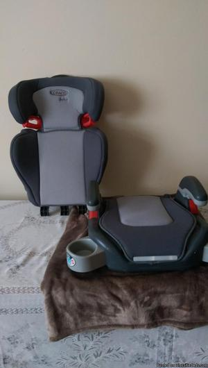 Car seat which turns into booster cushion