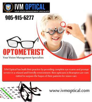 No 1 Optometrist in Brampton p p Eye Specialist IVMoptical SERVICES