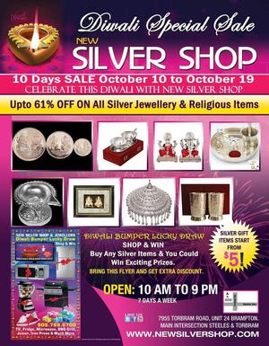 Diwali Offers Upto 61 on Silver Items in Brampton FOR SALE