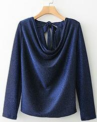 New Ladies Fashion Blue Shirt