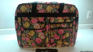 FLORAL COLLAPSIBLE TRAVEL LUGGAGE CARRY ON TOTE