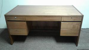 SOLID WOOD 7 DRAWER EXECUTIVE OFFICE DESK