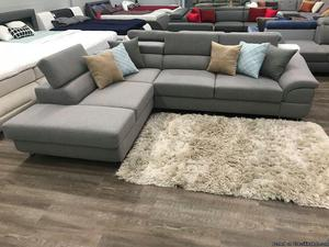 """Modern """"Lagozzo""""Sofa available in grey or brown"""