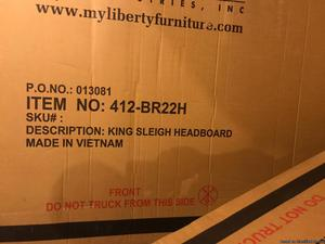 New unopened and in the Box King Sleigh Bed Frame for Sale