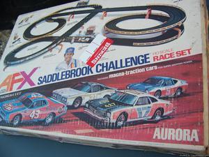 NASCAR AURORA AFX SADDLEBROOK CHALLENGE HO SCALE RACE SET IN