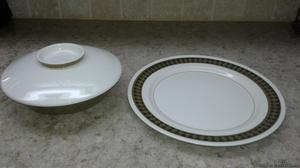MIKASA MEDITERRANIA PLATTER ANS SERVING BOWL WITH LID