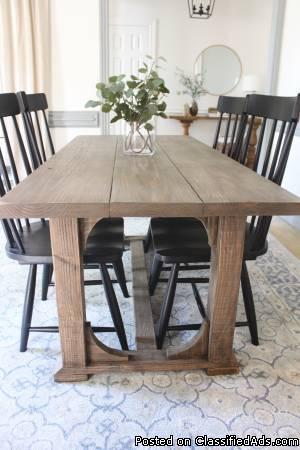 6 ft. Solid Wood Farmhouse Arch Dining Table