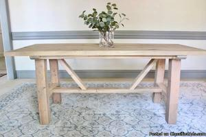 6 ft. Solid Wood Farmhouse Dining Table