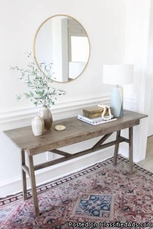 Designer Custom Solid Wood Console Table