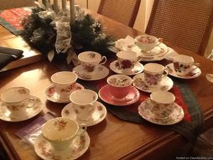 English china cups and saucers