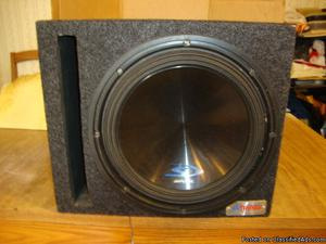 Atrend Subwoofer Box With Blown Speaker